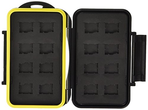 JJC MC-MSD16 Rugged Waterproof Memory Card Case (16x microSD Cards)