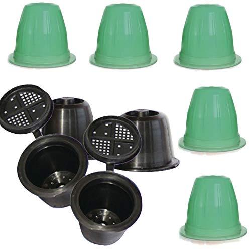 TronicXL 3 Stück Espresso Nespresso Kapsel zum Selber füllen für Nespresso + 5 Reinigungskapseln