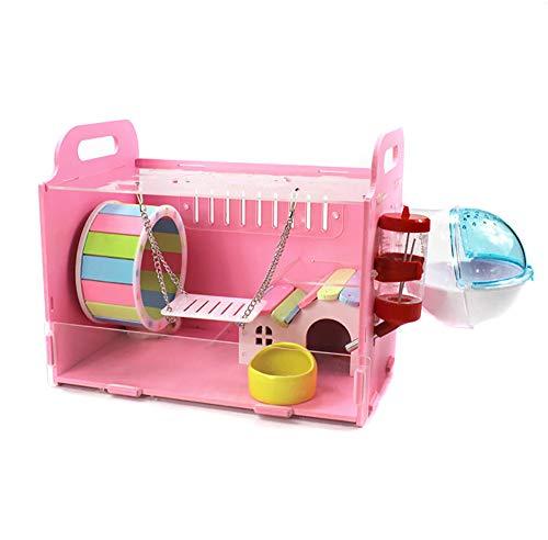 HEISHOP Hamsterkäfige, Luxusvillen und Spielzeug, Pink