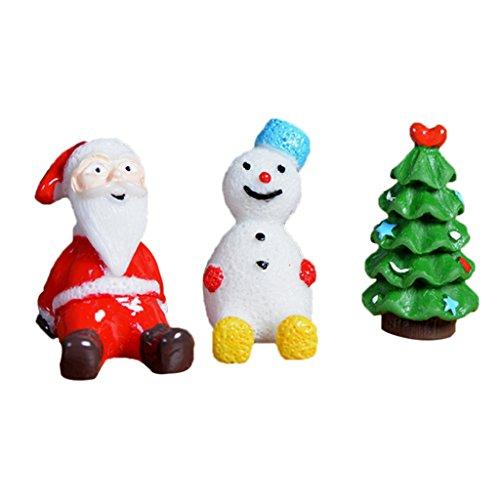 MagiDeal Miniatur Ornament Mini-Szene Fee-Verzierung Set - 3pcs Weihnachten, 2,0 x 3,7 cm