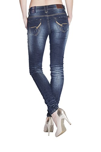 Blue Monkey Damen Skinny Jeans Ruby-1315 Blau