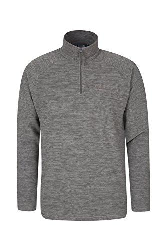 Mountain warehouse felpa micro pile snowdon da uomo - traspirante e ideale per vestirsi a strati grigio chiaro m
