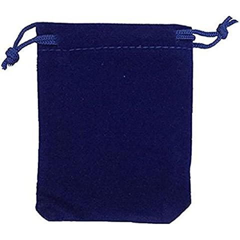 PIXNOR 9 * 12cm terciopelo lazo joyería bolsa dulces bolsas boda Favor regalo - 50pcs (azul)
