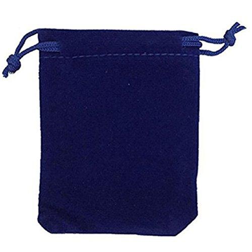 PIXNOR 50 Stück Samtbeutel Schmuckbeutel Samtsäckchen Hochzeit Party Geschenksäckchen (Blau)