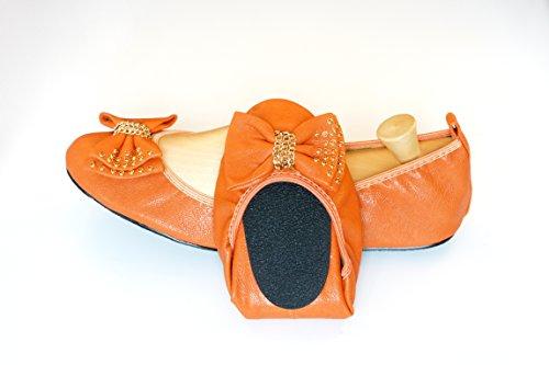 Cocorose London Scarpe Pieghevoli - Camden Scarpe da Ballet Donna Arancione
