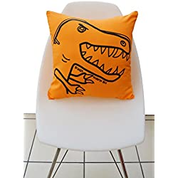 Cojin de dinosaurio naranja
