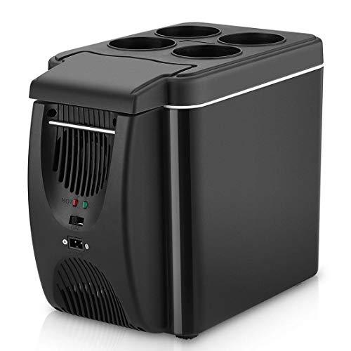 Dxyap Elektrische Kühlbox 6 Liter Lautlose 12 V und 220 V für Auto LKW und Steckdose Thermo Elektrische Kühlbox AC/DC A++