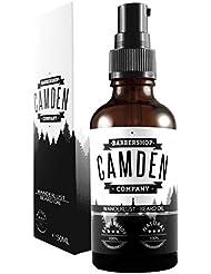 Camden Barbershop Company: Huile à Barbe 'WANDERLUST': Soin de barbe premium & naturel aux arômes sauvages, avec action assouplissante (1 x 50 ml)