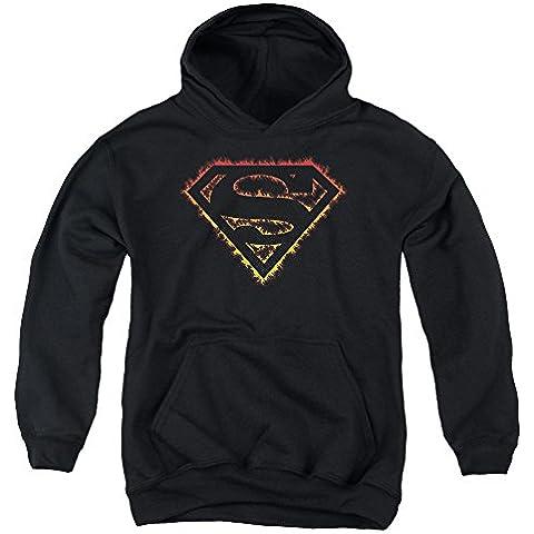 Superman - - Llama la juventud del logotipo Sudadera con capucha contorneada
