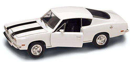 Barracuda-auto-modell (Plymouth Barracuda 1969 Weiss 1/18 Yatming Modellauto Modell Auto)