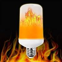 LED Flame Light Bulbs,Bombillas con efecto de llama LED,Snewill E27 Standard Flame Effect Fire Light Bulbs for Decoration Lighting on Christmas Halloween Holiday Party