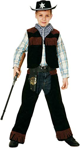 Fancy Me Schwarzer Sheriff Law Enforcer Cowboy Wild West Gun Slinger Western Chaps TV Film World Book Day Week Kostüm Outfit Chap-outfit