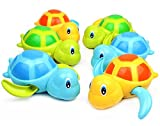 Geschenk Reihe Von 6 Float Pool Landen Baby Badespielzeug Schwimmen Wanne Badewanne Süß Schwimmen Turtle Spielzeug Für Die Jungen Mädchen Blau - Orange - Grüne