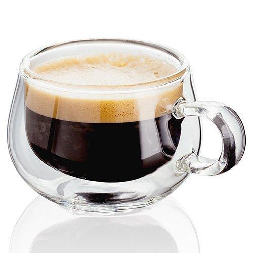 Judge Lot de 2 Tasses à Espresso en Verre, Transparent, 75 ML