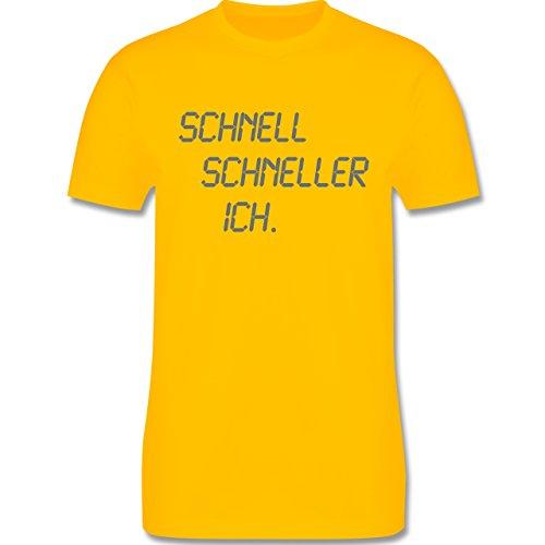 Laufsport - schnell - schneller - ich - Herren Premium T-Shirt Gelb