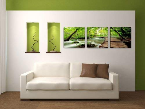 150 x 50 cm Visario echtes Marken Leinwandbild Nr. 4216 Bilder auf Leinwand Bild Natur drei Teile
