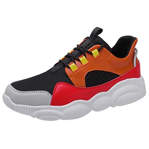 TWISFER Unisex-Erwachsene Sneakers Herren Damen Turnschuhe Freizeitschuhe Mesh Atmungsaktiv Laufschuhe Sportschuhe Turnschuhe, Party, Strand, Arbeit, Freizeit