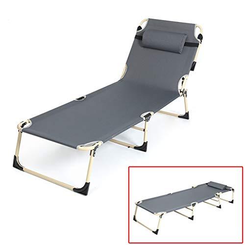 Chaises longues Quatre pieds Lit pliant Lit pliant Lit simple réglable Pliable de tuyaux en acier