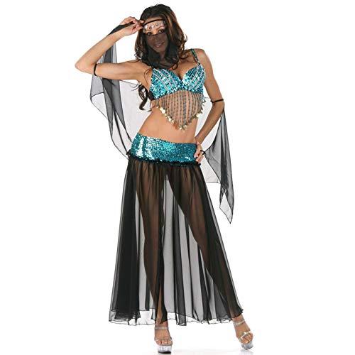MAIMOMO Damen-Reizwäschehalloween-Kostüm Europa Und Amerika Damen Halloween Kostüm Charakter Sexy Griechische Göttin Spiel, Grün Mit Schwarz, Eine Größe