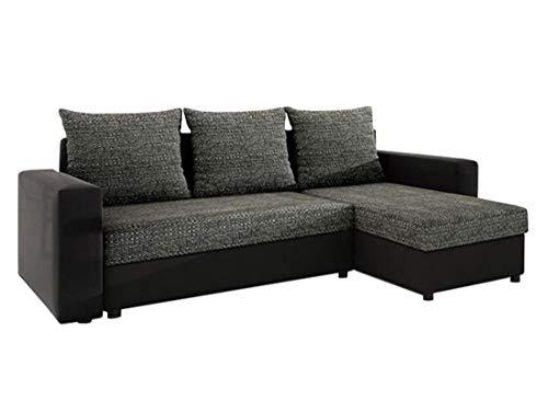 Wohnzimmer Moderne Schlafsofa (Mirjan24  Ecksofa Top Lux! Sofa Eckcouch Couch! mit Schlaffunktion und Zwei Bettkasten! Ottomane Universal, L-Form Couch Schlafsofa Bettsofa Farbauswahl (Soft 011 + Lawa 06))