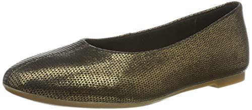 Clarks Damen Chia Violet Geschlossene Ballerinas, Silber Bronze Metallic, 37.5 EU - Bronze Pumps Heels