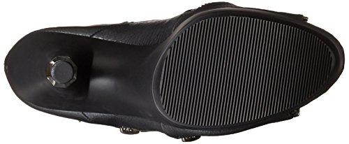 SPIKY-647 Blk Faux Leather/Blk Matte