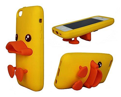 Duck Étui pour iPhone 6 6s jaune en caoutchouc de silicone animales Cartoon forme 3D couvrir © Sloth Cases