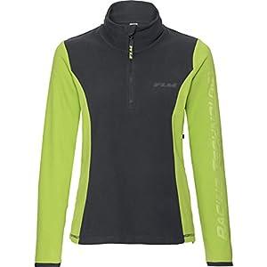 FLM Fleeceshirt Fleeceshirt Damen Fleece Shirt 1.0, Fleecepullover Damen, tragangenehmes Microfleece, farbig abgesetzte Details