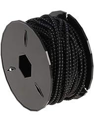 F Fityle 1 Rollo de Cuerda Elástica Artesanía Stretch String Ropes Tie DIY Accesorios de Reemplazo para Botes y Barcos - Negro