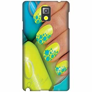 Printland Designer Back Cover For Samsung Galaxy Note 3 N9000 - Nail Art Cases Cover