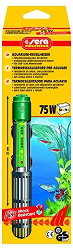 Chauffage Chauffage pour aquarium sera 8715 75 W (pour 75 L) qualité avec schockresistentem Verre de Quartz, interrupteur de sécurité et précision de sécurité Protector