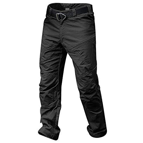 Leobtain Männer Casual Baumwollhosen Atmungsaktive Slim Combat Work Hose mit Mehreren Taschen für das Training im Freien