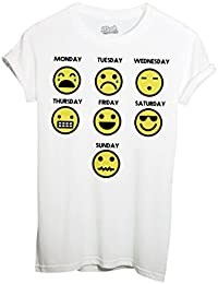 T-Shirt Ma Semaine Emoji Smiley - Mush By Mush Dress Your Style
