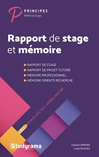 Rapport de stage et mémoire : Ecoles, BTS, DUT, Licence, Masters par  (Broché - Mar 12, 2019)