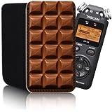 Funda de Neopreno, diseño de chocolate (N2), para TASCAM DR-05, DR-08, DR-07, Olympus LS-20 digital estéreo portátil grabadora de voz, impermeable