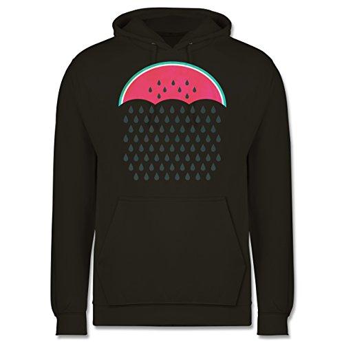 Statement Shirts - Watermelon Rain - Männer Premium Kapuzenpullover / Hoodie Olivgrün