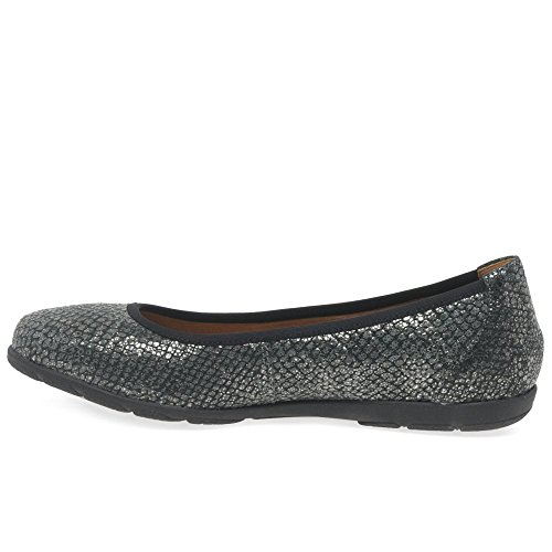 Caprice 22150 Femme Chaussures Noir Black Reptile Metallic