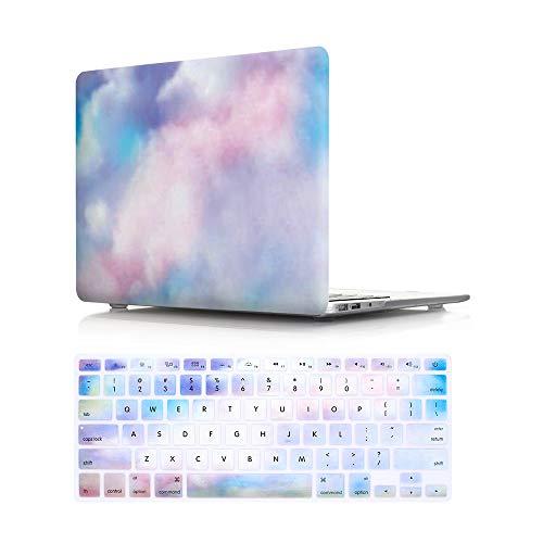 HRH Aquarell Kunst Regenbogen Nebel Shell schützende Hard Case und passende Tastatur Abdeckung für MacBook Air 13,3