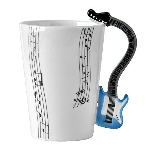 Keramik-keramik-tasse (Keramik Tasse, Cozyswan Gitarre Tasse Kaffeebecher Porzellan Mug Musik Tasse Keramiktasse mit Geschenkschachtel)