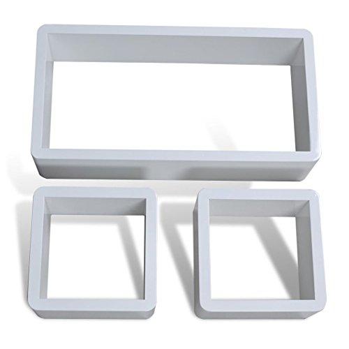Etagères Design Murale 3 Cubes blanc MDF 42 x 22 x 10cm
