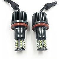 Bombillas de luz LED Cree 63217760782, con halo de luz «Angel Eyes» H8 de 180 W para piloto de balizamiento