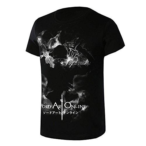 Sword Art Online Kirigaya Kazuto Asada Shino T-Shirt Schwarz M