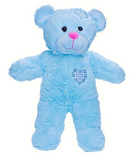 Stuffems Toy Shop Nehmen Sie Ihren eigenen Plüsch-8-Zoll-Blau Patches Teddybären - Ready 2 Liebe in EIN Paar einfachen Schritten -