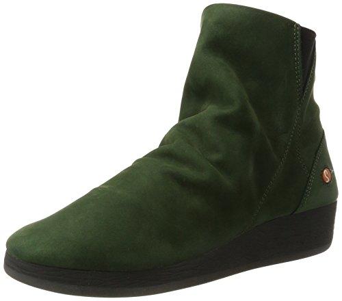 Softinos Damen AYO411SOF Nobuck Stiefel, Grün (Dk. Green), 40 EU (Gewaschen-leder-schuhe)