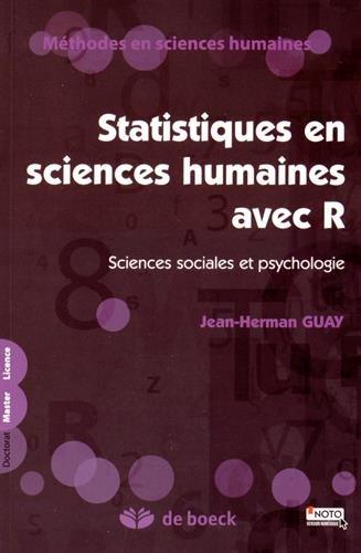 Statistiques en sciences humaines avec R : Sciences sociales et psychologie