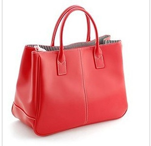 FZHLY Fashion Square Sezione Verticale Peas Borsa Delle Nuove Donne,DeepCoffee Red