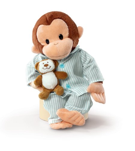 Curious George with Pyjamas (Coco der neugierige Affe) ca. 30cm gross - Plüschtier, Stofftier - aus USA - George Affe Der Spielzeug