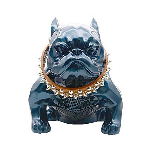 YEQ Französische Bulldogge Lautsprecher, tiefer Bass-Lautsprecher mit Bluetooth, Smart Speaker - Handbemalte Mini-lampe