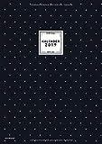 Kalender 2019 Din A4 Vertikal Schwarz: Praktischer Notizkalender Format groß, 12 Monate Januar bis Dezember 2019, 1 Woche auf 2 Seiten, mit ... fürs Büro, Schule oder Familie, Band 2019)