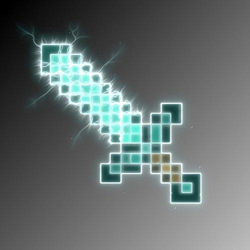 Ep e minecraft en mousse diamant d guisements f tes - Comment couper un miroir sans diamant ...